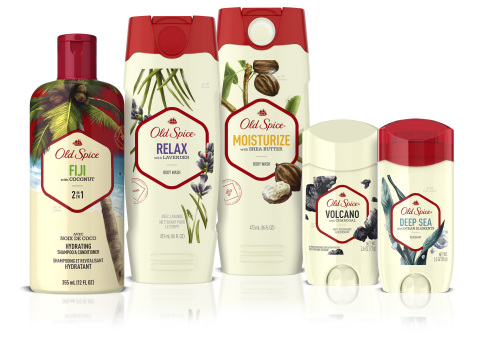 Old Spice, the men's grooming authority, knows that men need, want and deserve nice skin, too. The brand introduces its all-new Fresher Collection, offering real body wash benefits forged from real ingredients that help guys elevate their grooming regimen. The all-new Fresher Collection also infuses new fresh scents and anti-perspirant/deodorant technology that goes on smooth to combat visible residue, so guys don't have to worry about white marks on dark shirts. (Photo: Business Wire)