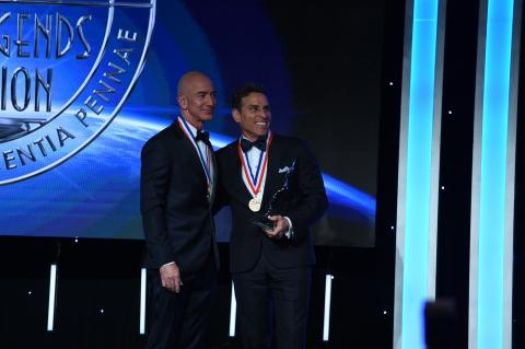 Kenn Ricci, Principal of Directional Aviation, presented the Kenn Ricci Lifetime Aviation Entreprene ...