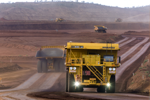 A Komatsu Autonomous Haul Truck in operation at a customer mine site. (Photo: Business Wire)