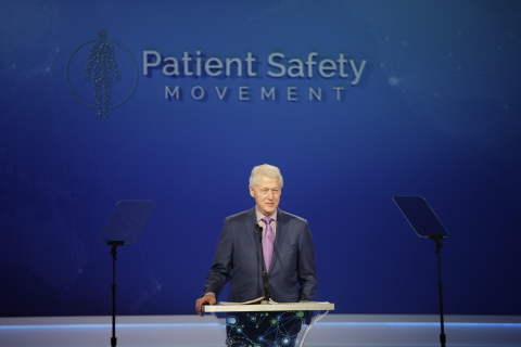 Former President Bill Clinton's Keynote address at the 7th Annual World Patient Safety, Science & Technology Summit (Photo: Business Wire)