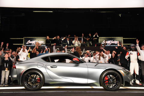 2020 Toyota Supra VIN 20201 sold for charity at Barrett-Jackson (Photo: Business Wire)