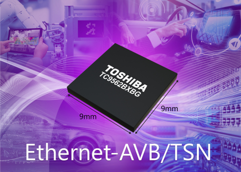 "Toshiba: Artist's impression of new Ethernet bridge ICs ""TC9562 Series"" for automotive and industrial applications. (Graphic: Business Wire)"