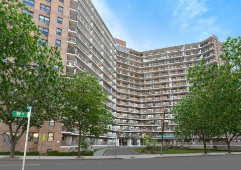 The apartment complex is comprised of over 400 units and includes commercial space and a parking garage. The building is located in the Rego Park neighborhood of Queens, NY. (Photo: Business Wire)
