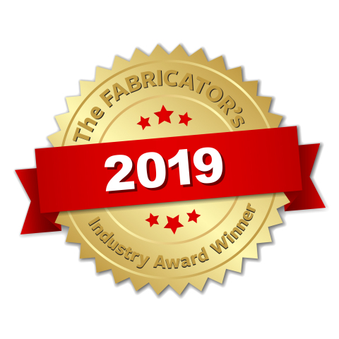 Rapid, a Protolabs Company, has won The Fabricator Magazine's 2019 Industry Award for its quick-turn production, lean manufacturing efforts, and overall company evolution. (Graphic: The Fabricator Magazine)
