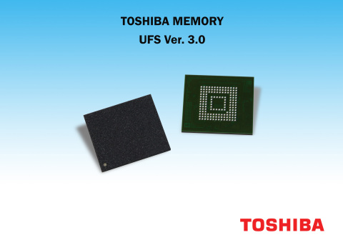 Toshiba Memory America's new UFS Ver. 3.0 embedded flash memory devices integrate 96-layer BiCS FLAS ...