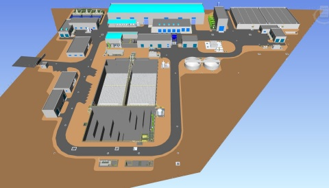 Provisur Seawater Desalination Plant architectural drawing (Graphic: Business Wire)