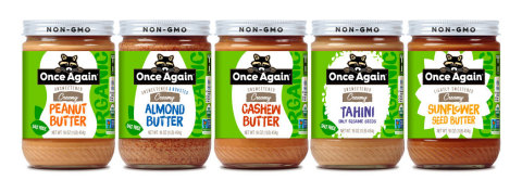 Once Again Nut Butter's new packaging design (Photo: Business Wire)