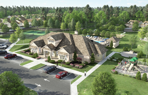 Rendering of Pulte Homes' Hunterdon Creekside clubhouse (Photo: Business Wire)