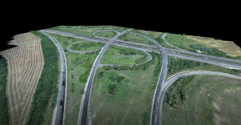 Ventus-Tech used YellowScan Surveyor, which includes Velodyne Lidar's Puck™, to collect data along a 47-kilometer segment of the M1 highway in northwestern Hungary. (Photo: Business Wire)