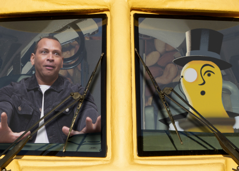 MR. PEANUT has everyone's backs during crunch time – including grand slam legend Alex Rodriguez (Photo: Business Wire)