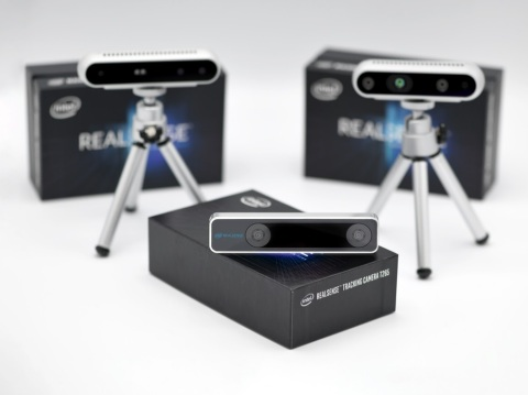 The Intel RealSense Tracking Camera T265 is a new class of stand-alone inside-out tracking device that will provide developers with a powerful building block for autonomous devices, delivering high-performance guidance and navigation. Intel Corporation introduced the Intel RealSense Tracking Camera T265 in January 2019. (Credit: Intel Corporation)