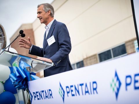 John Stauch, Pentair President and CEO, spoke at the grand opening of the company's new innovation center in Apex, N.C. (Photo: Pentair)