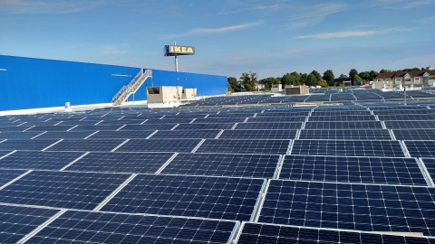 Future IKEA Norfolk to be equipped with Hampton Roads' largest solar rooftop array and EV charging stations.  (Photo: Business Wire)