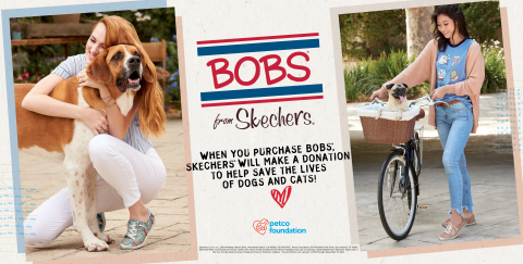 BOBS from Skechers continues to help save animals' lives with new partner Petco Foundation. (Photo: Business Wire)