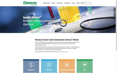 Chemraz Semiconductor Microsite (Graphic: Greene Tweed)