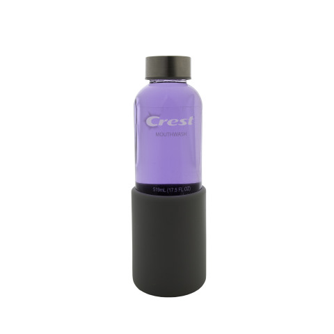 Crest is driving sustainability in Oral Care through new Crest Platinum mouthwash, a unique formula that delivers fresh breath and stain prevention in a sustainable, refillable glass bottle. (Photo: Business Wire)