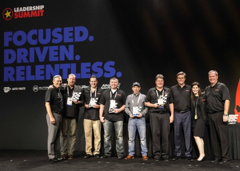 Advance Auto Parts 2018 Top Performing Independent Partner award winners celebrate their win with Ad ...