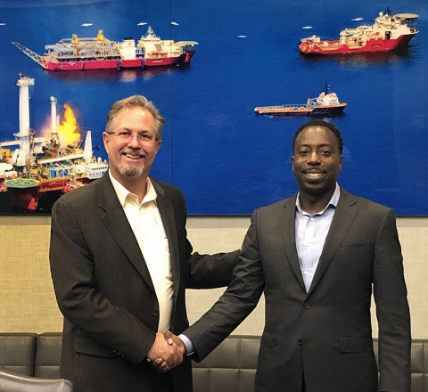 HWCG LLC and Helix Energy Solutions Group Representatives (Photo: Business Wire)