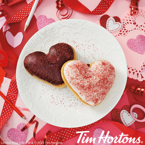 """Say """"Be Mine"""" This Valentine's Day With Donuts From Tim Hortons® US (Photo: Business Wire)"""