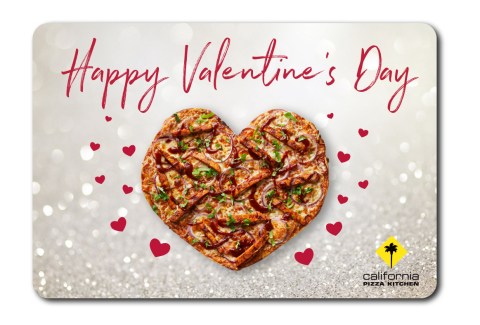 "Jan. 29-Feb. 17, California Pizza Kitchen will offer digital Valentines for CPK fans looking to share the love with a special Valentine's Day e-gift card. Nothing says ""I love you"" like the gift of pizza! (Photo: Business Wire)"
