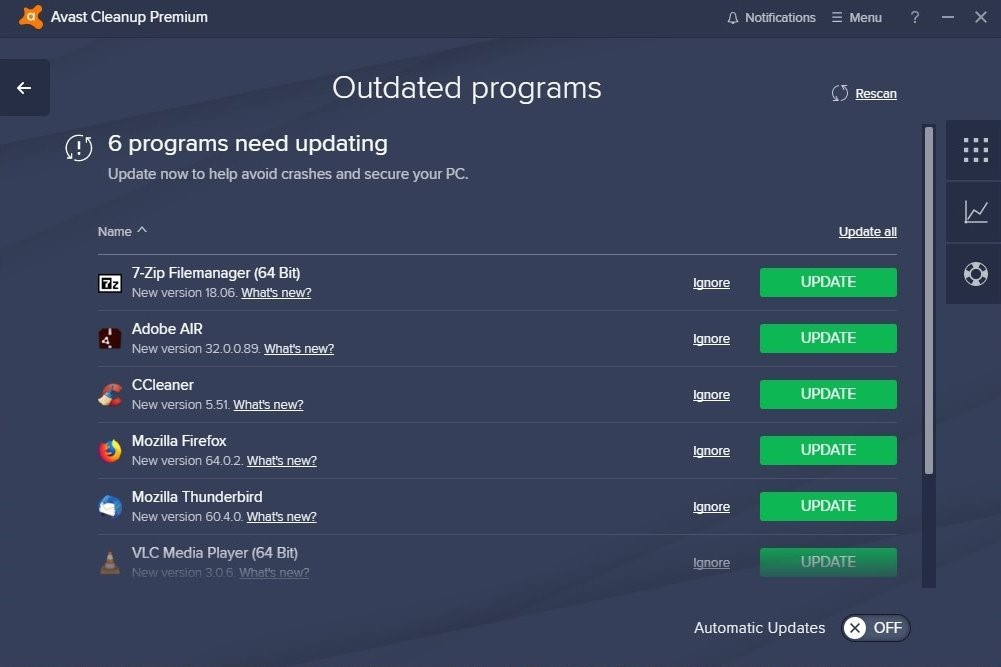 Avast Cleanup Premium Now Auto-Updates 30 of the World's Top
