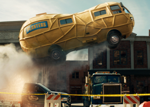 In the PLANTERS Super Bowl ad, MR. PEANUT takes fans on a wild ride in the PLANTERS NUTmobile (Photo ...
