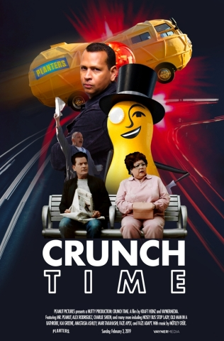MR. PEANUT, Alex Rodriguez and Charlie Sheen Make Super Bowl Debut Together in Wild PLANTERS Ad (Graphic: Business Wire)
