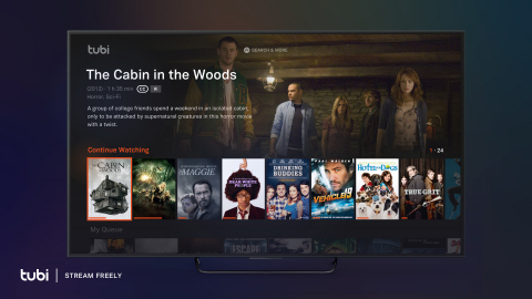 An image of the main screen of Tubi, a free movie and television streaming service. (Courtesy: Tubi)