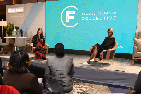 Visa's Suzan Kereere and Rebecca Minkoff, designer and head of the Female Founder Collective, hosted ...