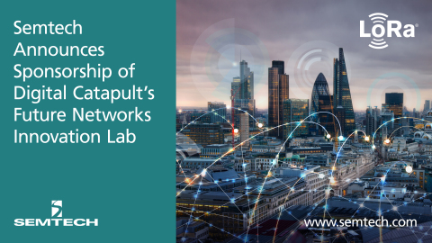 Semtech Announces Sponsorship of Digital Catapult's Future Networks Innovation Lab (Graphic: Business Wire)