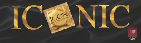 Billboards and transit ads for AHF's ICON brand condoms posted nationwide in Atlanta, Chicago, Los Angeles, Miami, New York and several other markets in anticipation of International Condom Day, observed on February 13th. (Graphic: Business Wire)