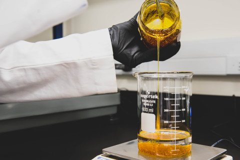 Scientists at MedPharm mix cannabinoids to create innovative dosage forms. (Photo: Business Wire)