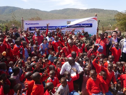 At the ceremony of Off-grid Solutions Project, in Ilkimati community. (Photo: Business Wire)