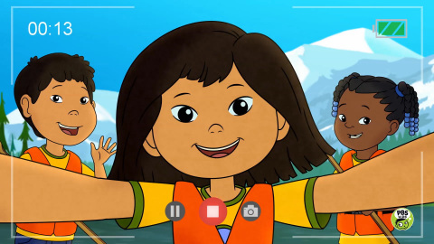 Molly with her friends Tooey and Trini. MOLLY OF DENALI premieres July 15, 2019 on PBS KIDS. Photo courtesy of © 2018 WGBH Educational Foundation