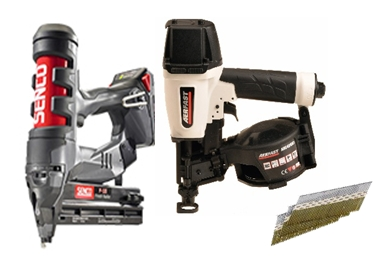 Pneumatic nailers and nails (Photo: Business Wire)