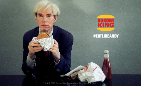 The Burger King® Brand Super Bowl Commercial Stars Andy Warhol (Photo: Business Wire)