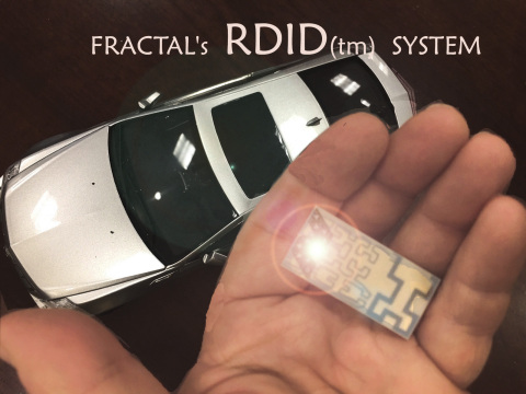 A scaled-up version of FRACTAL's proprietary road and space-based radar reflector. The new technology will enable driverless cars and tiny satellites with greater safety and capabilities. (Photo: Business Wire)