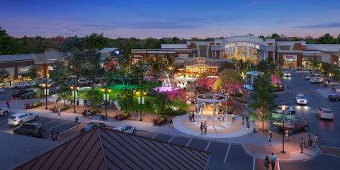 Rendering of brand new state-of-the-art entertainment area at The Streets of Indian Lake in Hendersonville, TN. (Graphic: Business Wire)