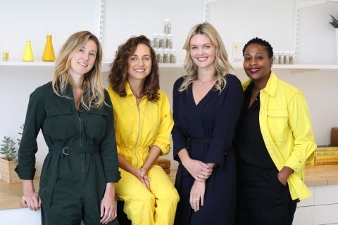 From left to right: COO Elizabeth Reifsnyder; Founder and CEO Katerina Schneider; VP of Partnerships, PR, and Community Lauren Kleinman; and VP of Program Management, Kadie Ann Bowen. (Photo: Business Wire)