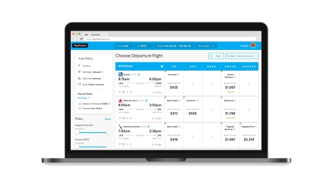 Developed in close collaboration with American, Delta, United and industry association ATPCO, TripActions' groundbreaking new flight booking experience sets a new standard for user experience in business travel. (Graphic: Business Wire)