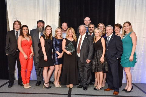 Prince William County-based, InCadence Strategic Solutions' team gathers to celebrate an outstanding year of successful achievements and on becoming a five-time industry award recipient. (Photo: Business Wire)