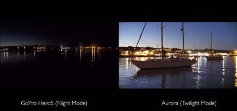 The Aurora is the only HD action video camera with true day and night color imaging, bringing the night to life. (Photo: Business Wire)