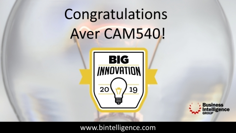 Congratulations to AVer's CAM540. Winner of the Big Innovation Award for 2019. (Photo: Business Wire)