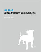 Zynga Q4 2018 Quarterly Earnings Letter