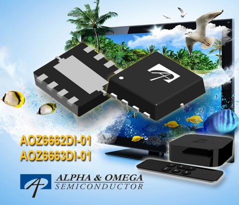 AOZ6662DI-01 and AOZ6663DI-01 (Graphic: Business Wire)