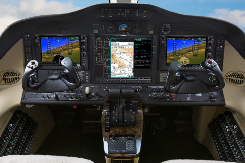 G1000 NXi integrated flight deck in the Cessna Citation Mustang (Photo: Business Wire)