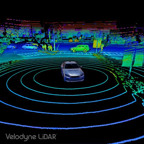 3D Point Cloud from the Velodyne Alpha Puck™, a lidar sensor specifically made for autonomous driving and advanced vehicle safety at highway speeds. (Photo: Business Wire)