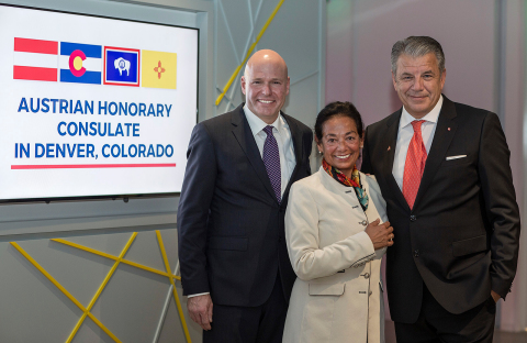 Hikmet Ersek, President and CEO of Western Union, was honored in his role as Austrian Honorary Consul in Denver, Colorado by Austrian President Alexander Van der Bellen.