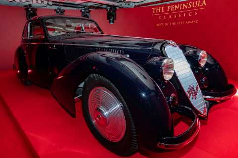 The 1937 ALFA ROMEO 8C 2900B BERLINETTA was named winner of The Peninsula Classics Best of the Best  ...