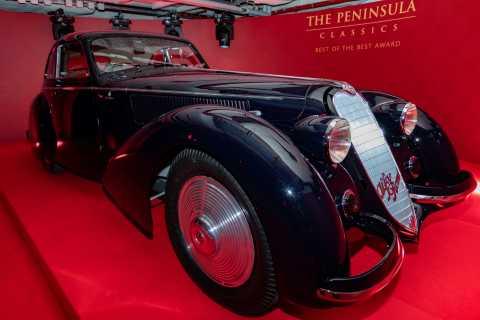 O ALFA ROMEO 8C 2900B BERLINETTA de 1937 foi nomeado vencedor do prêmio Best of the Best do The Peni ...